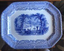 """Lovely Blue & White Transferware Platter Podmore Walker Venus pattern abt 16"""""""
