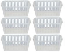 25cm Clear Plastic Handy Basket Storage Basket - Set Of 6