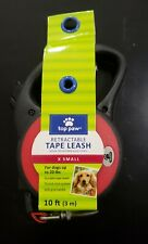 Top Paw Retractable Red Leash with Black Handle (X Small, Red) - Brand New