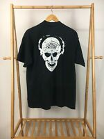 RARE VTG 90s Stone Cold Steve Austin 3:16 Death Skull Short Sleeve T-Shirt L USA