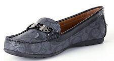 Coach Olive Signature Loafer Driver Moc Loafer Flat Shoe Black-Smoke/Black 6