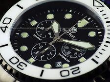 NEW Deep Blue Sea Ram Sapphire Screw Down Chrono PVD SS Ceramic Bezel 500M Watch