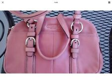 COACH Mauve   Leather BONNIE SOHO Shoulder Tote Bag Handbag Satchel Purse 12695