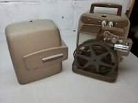 Vintage Autoload Bell & Howell 255A Dual 8mm Projector Tested Works Reverse Loud