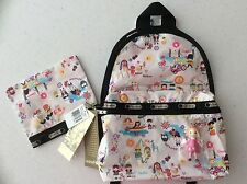 NWT Lesportsac Disney Small World Around The World Basic Backpack w Pouch/Charm