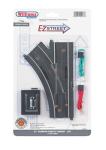 """Williams 00273 Bachmann O E-Z Street 21"""" Left Hand Remote Switch Turnout"""
