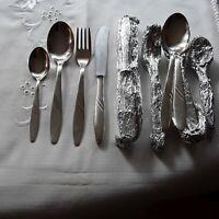 DDR Essbesteck 60er Silberauflage   für  6 Personen mit Teelöffel