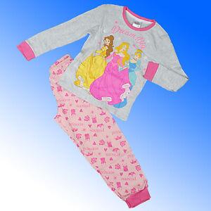 Girls Disney Princess Pyjamas Cinderella Belle Aurora  Age 5 6 7 8 Years