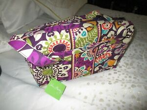 NEW WITH TAGS VERA BRADLEY TOTE PLUM CRAZY $78