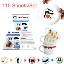 A4 Size Sublimation Paper Heat Transfer T Shirt Mug For Inkjet Printer 110pcs
