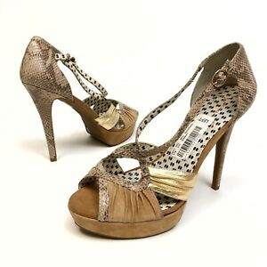 Jessica Simpson Brouge Leather Ankle Strap Platform/Heel Sz 10B Eu40 Buckle NWOB