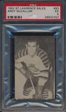 1952 St Lawrence Sales #93 Andy McCallum  PSA 5  EX 43567