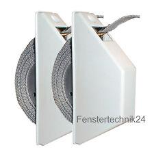 2 Stück Rolladen Mini Halbeinlass-Gurtwickler weiß 14mm Gurtband Mini Rollladen