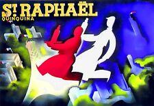 Impresión De Arte St Raphael Quinquina restaurante bebida Cartel