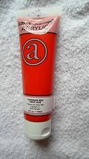 4.0 oz. CADMIUM RED LIGHT HUE ACRYLIC PAINT ~ GREAT BUY! ~ FREE SHIPPING