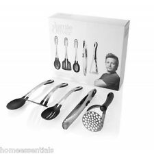 Jamie Oliver 5 Piece Utensil Set Stainless Steel Masher Tongs Spoon Turner