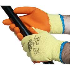 1 Pair of Grab & Grip Builders Latex Rubber Coated Gloves. Conforms to EN388