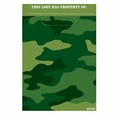 8 Camouflage Army Loot Bags|Camouflage Party|Party Bags|Loot Bags