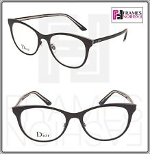 1ab0637223 Christian Dior Montaigne N13 Negro Cristal Metal 52mm Rx gafas Ópticos