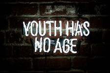 """New Youth Has No Age Acrylic Bar Pub Decor For Bedroom Gift Neon Light Sign 17"""""""