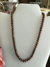 7af623631ac30 Brown Freshwater Cultured Fine Pearl Necklaces & Pendants for sale ...
