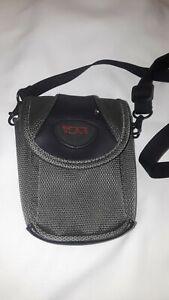 Tumi Camera Case Side Bag Gray Adjustable Strap Waist Clip