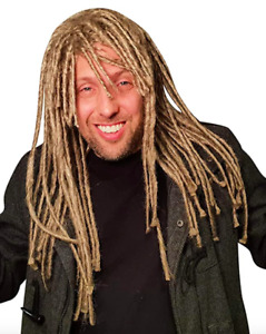 Dreadlock Wig For Men Hippie Gangster Beach Bum Reggae Rasta Man Homeless Dreads