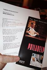 1993 Academy Awards Brochure for Philadelphia best Achievement in makeup