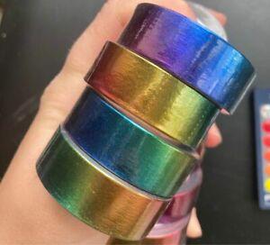 1 Roll / 2 Rolls - Metallic Rainbow Washi Tape, Journal Supplies, Craft Supplies