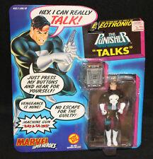1991 Electronic Marvel Super Heroes Punisher Action Figure Toy Biz -MOC