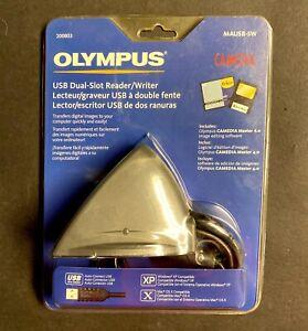 Olympus Camedia USB Dual Slot Card Reader Writer MAUSB-5W -SEALED!