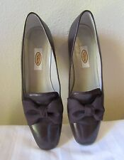 Talbots Brown Dressy Bow Flats Size 9N Made In Spain EUC
