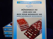 Leuchtturm Münzbox 20 runde Fächer bis 38 mm Ø, für 500 ÖS, rauchfarben, Neuware