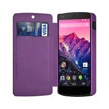 Etui à rabat latéral et porte-carte Violet pour LG Google Nexus 5 + Film de Prot
