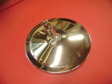 "CUSHMAN TRUCKSTER HAULSTER NEW CHROME METAL 5"" ROUND FLAT GLASS MIRROR"