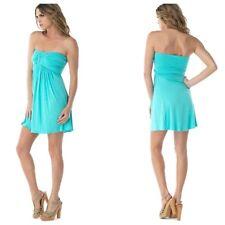 Sky Brand M Aqua Attarahn Strapless Mini Dress-Medium