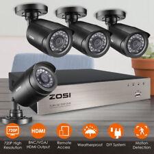 ZOSI 8CH TVI 720P Recorder Haus Außen Überwachungskamera Alarm + Free Geschenk