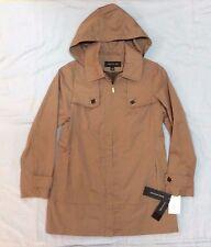 New! JONES NEW YORK Women's XS Beige Toast  Jacket Coat Plaid Lined $150