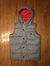 Old Navy Puffer Style Vest, Kids Large (10-12), Gray & Red, Never Worn, Free Shi
