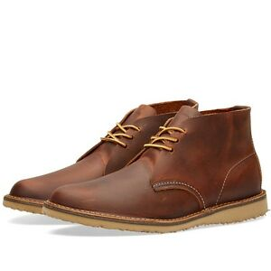 RED WING WEEKENDER CHUKKA BOOT STYLE 3322 COPPER ROUGH&TOUGH MADE IN THE USA