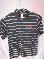 Men's Harley Davidson Black Stripe Polo Shirt Size XL