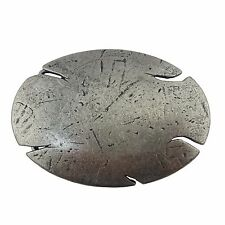 Oval Buckle Antique Hammered