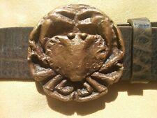 Gürtelschließe Krebs, Gürtelschnalle, für Wechselgürtel, Koppelschließe Bronze