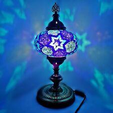Extra Large Fait à la Main Turkish Marocain Arabe Coloré Verre Table Lampe