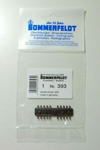 Sommerfeldt N Nr. 393 Rillen - Isolator, braun SBB Inhalt: 20 Stück  NEU & OVP