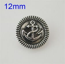 SMALL SNAP * ANCHOR Snap Button Chunk 12mm Interchangeable Jewelry