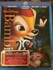 Disney's Bambi (Blu-ray/DVD, 2011, 2-Disc Set, Diamond Edition) NEW!!