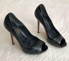 Alexander McQueen⚡️Peep toe platform patent leather trim pump heels 36.5/6.5 McQ