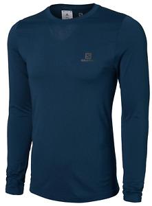 Salomon Men's Sense Pro LS Tee Running Shirt Poseidon