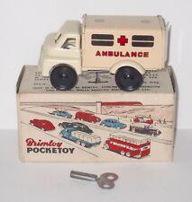 Vintage Wells Brimtoy 537 - Clockwork - Ambulance - Boxed With Key.